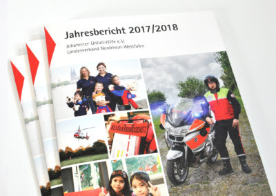 Johanniter-Unfall-Hilfe NRW e.V. – Design-Relaunch für Jahresbericht